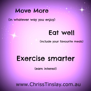 move more, eat well, exercise smarter