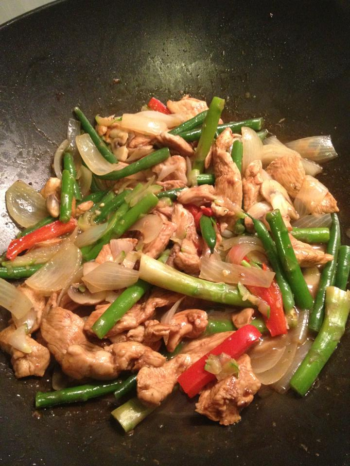 Ginger chicken stir fry - from Fat Flush recipe book