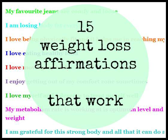 15 Weight Loss Affirmations That Work