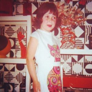 5 yrs old in an Abba outfit